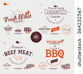 butcher shop design elements ... | Shutterstock .eps vector #364232567