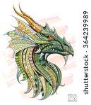 patterned head of the dragon on ... | Shutterstock .eps vector #364239989