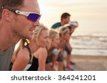 closeup shot of focused and... | Shutterstock . vector #364241201