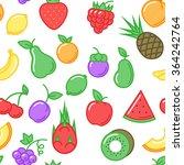 fruits seamless pattern  on... | Shutterstock .eps vector #364242764