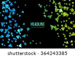 abstract 3d chaotic particles.... | Shutterstock .eps vector #364243385