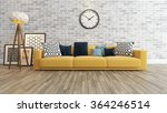 living room or saloon interior... | Shutterstock . vector #364246514