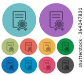 color certificate flat icon set ...