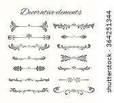 flourish elements. hand drawn... | Shutterstock .eps vector #364251344
