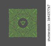 line art floral frame. vector... | Shutterstock .eps vector #364257767