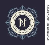 monogram emblem insignia.... | Shutterstock .eps vector #364258499