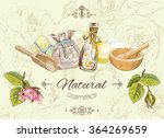 natural cosmetic banner. design ... | Shutterstock .eps vector #364269659
