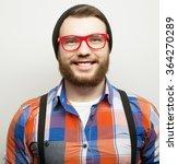 young bearded hipster man   Shutterstock . vector #364270289