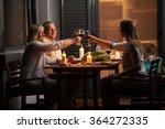 quiet family dinner in the... | Shutterstock . vector #364272335