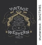 vintage western t shirt or... | Shutterstock .eps vector #364273481