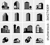 building icons set | Shutterstock .eps vector #364274309