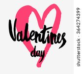 valentines day greeting card.... | Shutterstock .eps vector #364274399