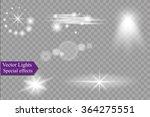 glow special effect light ... | Shutterstock .eps vector #364275551