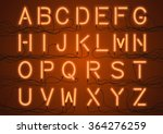 glowing neon light bulbs... | Shutterstock .eps vector #364276259
