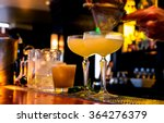 cocktail being poured at a bar. ... | Shutterstock . vector #364276379