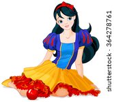 pretty girl wearing snow white...