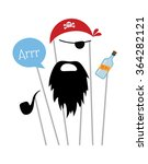 pirate photo booth props and... | Shutterstock .eps vector #364282121