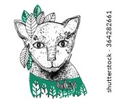 vector illustration with cat... | Shutterstock .eps vector #364282661
