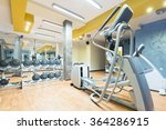hotel gym interior with... | Shutterstock . vector #364286915