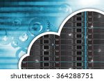 Cloud Hosting Concept...