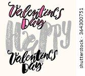 happy valentines day love... | Shutterstock .eps vector #364300751