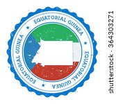 equatorial guinea map and flag...   Shutterstock .eps vector #364303271