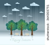 rainy season in park. natural... | Shutterstock .eps vector #364303751