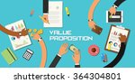 value proposition concept team... | Shutterstock .eps vector #364304801