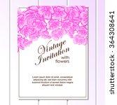 romantic invitation. wedding ... | Shutterstock . vector #364308641
