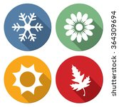 season icons vector... | Shutterstock .eps vector #364309694