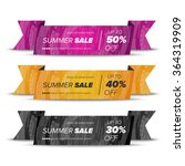 summer sale banner | Shutterstock .eps vector #364319909