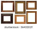 lots of frames isolated on... | Shutterstock . vector #36432019