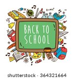 back to school themed doodle | Shutterstock .eps vector #364321664