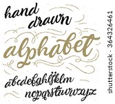 vector hand drawn alphabet.... | Shutterstock .eps vector #364326461