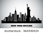 monochrome black white skyline... | Shutterstock .eps vector #364330424