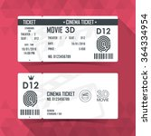cinema ticket card modern... | Shutterstock .eps vector #364334954