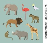 vector set of different african ... | Shutterstock .eps vector #364341875