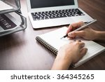 handwriting  hand writes with a ...   Shutterstock . vector #364345265