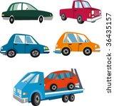 funny cars | Shutterstock .eps vector #36435157
