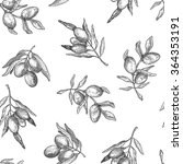 seamless pattern with olive... | Shutterstock .eps vector #364353191