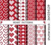 heart vector pattern pattern... | Shutterstock .eps vector #364354139