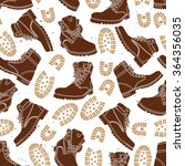 vector seamless pattern with... | Shutterstock .eps vector #364356035