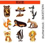 cartoon set of cute animals... | Shutterstock . vector #364357694