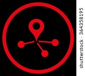 geo network vector icon. style... | Shutterstock .eps vector #364358195