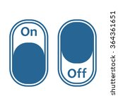 on off switch  icon  vector... | Shutterstock .eps vector #364361651