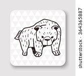bear doodle | Shutterstock .eps vector #364365887