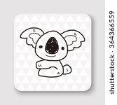 koala doodle | Shutterstock .eps vector #364366559