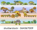 landscape elements vector set... | Shutterstock .eps vector #364367009