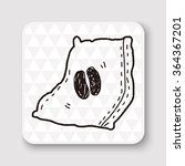 coffee bean doodle drawing | Shutterstock .eps vector #364367201