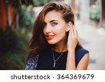 emotional portrait of fashion... | Shutterstock . vector #364369679
